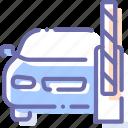barrier, car, open, transport