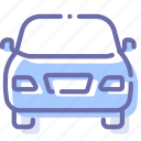 auto, car, front, transport icon