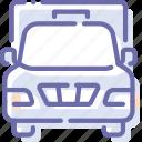 auto, cargo, front, truck