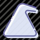mode, synthetics, tube, washing icon