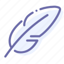 delicate, feather, mode, sensitive icon