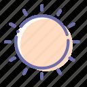 dry, machine, mode, sun icon