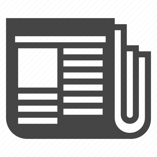 correspondence, daily, media, news, newspaper, page, press icon