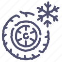 wheel, winter icon
