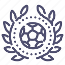 award, football, sport, wreath icon