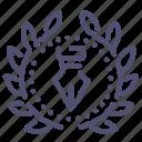 creative, design, illustration, wreath icon