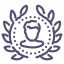 avatar, person, user, wreath icon