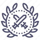 achievement, sword icon