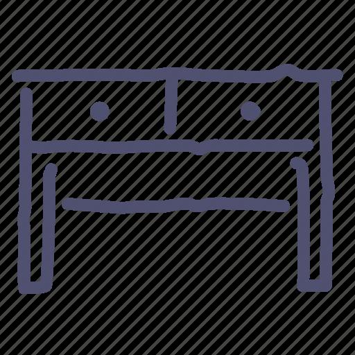 Desk, drawer, furniture, interior, table icon - Download on Iconfinder