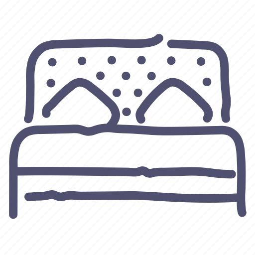 bed, double, furniture, interior, sleep icon
