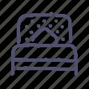 bed, furniture, interior, single, sleep icon