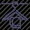 clothes, hanger, interior, towel icon