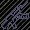 gun, kalashnikov, tommy, weapon icon