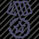 distinction, medal, reward, war icon