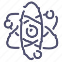 atom, corpuscle, energy, science icon