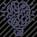 brain, creative, idea, thought icon