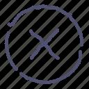 circle, close, delete, hide icon