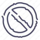 ban, circle, crossed, prohibition, sign icon
