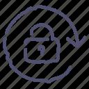arrow, lock, locked, rotate icon