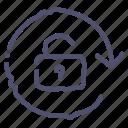arrow, rotate, unlock, unlocked icon