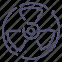 atomic, danger, nuclear, radiation, radioactivity icon