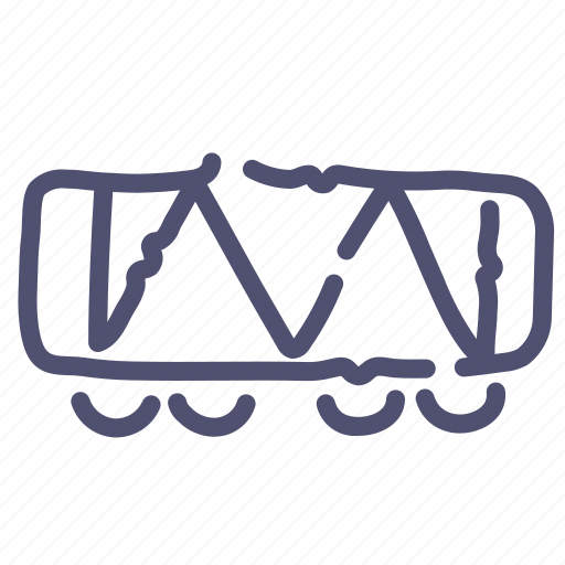railroad, raiway, vehicle, wagon icon