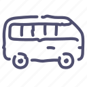 bus, minibus, passenger, transport icon