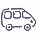 car, minivan, transport, vehicle icon