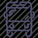 autobus, bus, sign, transport icon