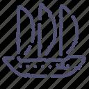 argosy, sailfish, sea, ship