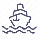 ship, sign, steamship, vessel icon