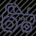 agrimotor, construction, farmer, tractor icon