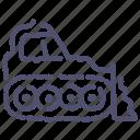 bulldozer, caterpillar, construction, industrial icon