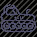 caterpillar, equipment, industrial, tractor icon