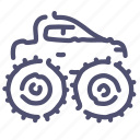 car, monster, show, truck icon