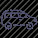 car, crossover, family, minivan icon