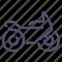 motobike, motorcycle, speed, transport icon
