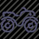 atv, quadrocycle, safari icon