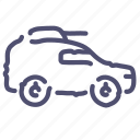 armored, cannon, car, military icon