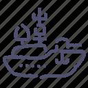 aerocarrier, destroyer, military, warship