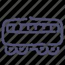 carriage, passenger, railway, train icon