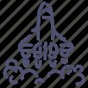launch, rocket, shuttle, start icon