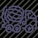 concrete, construction, transport, truck icon