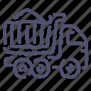 bulk, sand, transport, truck icon