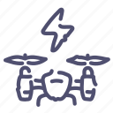 airdrone, charging, drone, quadcopter icon