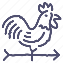 cock, direction, weather, wind icon