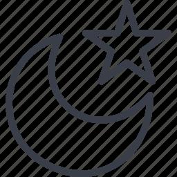 crescent, islam, star, united arab emirates icon