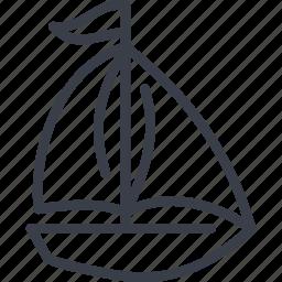 recreation, sailing ship, sea, united arab emirates icon