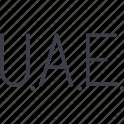 a country, emirates, u.a.e., united arab emirates icon