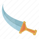 arabic, blade, dagger, knife, weapon icon